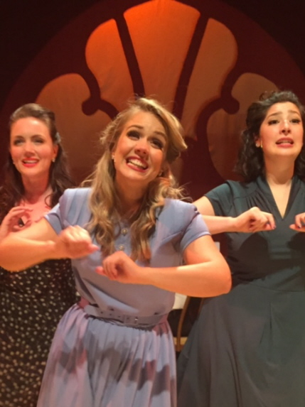Sarah Ashley, Molly Anne Ross and Malia Nicolini as The Andrews Sisters in Sisters of Swing / Photo by Dan Kelley