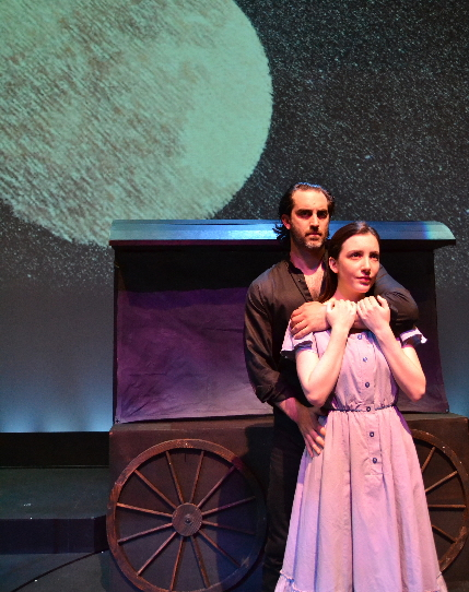 Cooper Grodin and Jessica Hershberg find a moment in the moonlight in 110 in the Shade at Palm Beach Dramaworks / Photo by Samantha Mighdoll