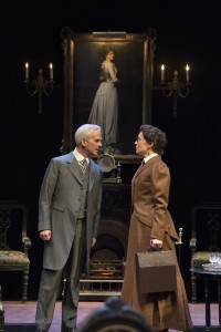 Patrick Galligan as Sir Harry Sims and Moya O'Connell as Kate in The Twelve-Pound Look.