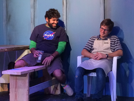 Carlos Alayeto and Kristian Bikic search for the meaning of life -- sort of -- in The Aliens at the Alliance Theatre