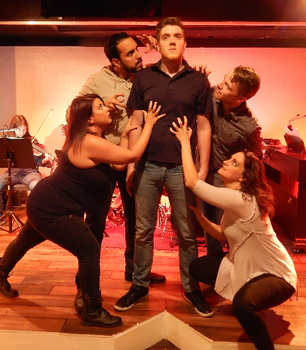 Jordana Forrest, Elvin Negron, Steven Michael Kennedy, Eric O'Keefe and Sabrina Lynn Gore star in Evening Star's production of 35MM