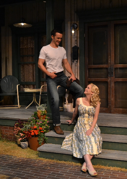 Merlin Huff courts Kelly Gibson in Palm Beach Dramaworks' Picnic / Photo by Samantha Mighdoll