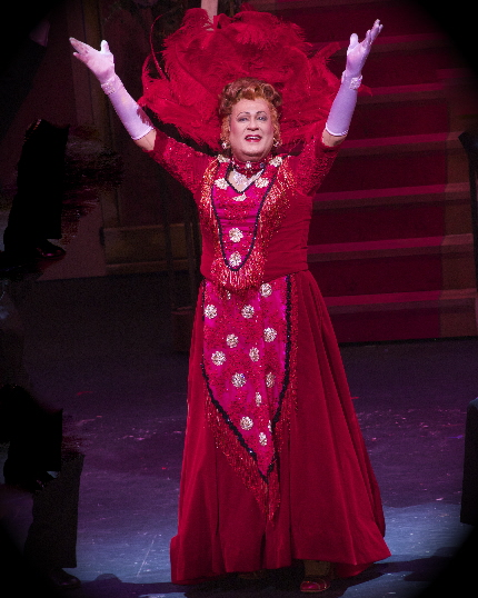Lee Roy Reams as Dolly Levi in The Wick Theatre's Hello, Dolly! / Photos by Amy Pasquantonio