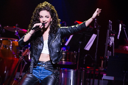 Miamian Ana Villafane as Miamian Gloria Estefan in the Miami-drenched musical On Your Feet / Photos by Matthew Murphy
