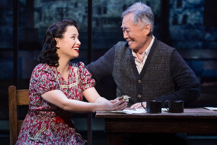 Lea Salonga and George Takei in Allegiance / Photos by Matthew Murphy