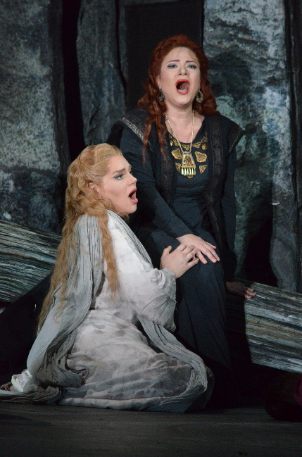 Dana Beth Miller and Mlada Khudoley in Florida Grand Opera's Norma / Photos by Brittany Mazzurco Muscato