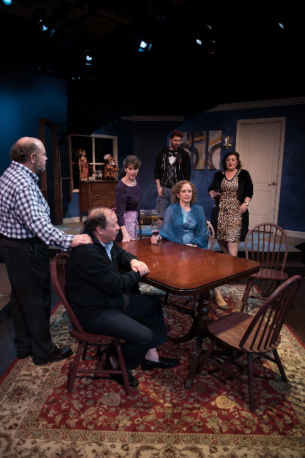 The cast of Unlikely Heroes, from left, Michael Small, Avi Hoffman, Patti Gardner, Robert Johnston, Kim Ostrenko and Margot Moreland / Photos by Bachi Frost