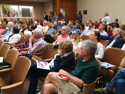 Crowd of Arts Garage supporters at Tuesday's Delray BeachCity Commission / Staff photo by Bill Hirschman