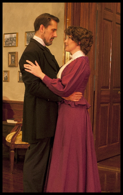 Jim Ballard and Laura Hodos in GableStage's musical A Minister's Wife based on Shaw's Candida / Photos by George Schiavone