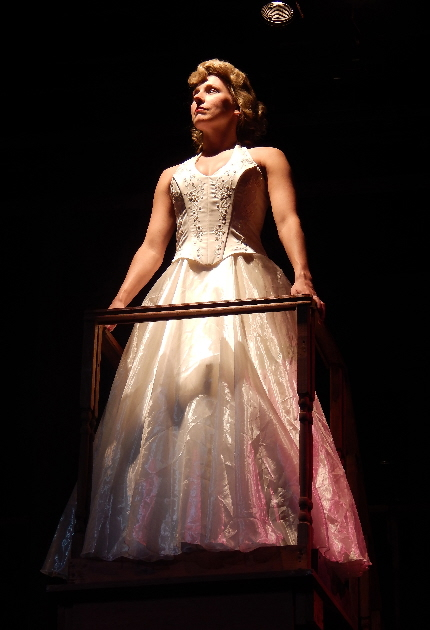 Jenna Pastuszek as the title character in Broward Stage Door's Evita / Photos by Carol Kassie