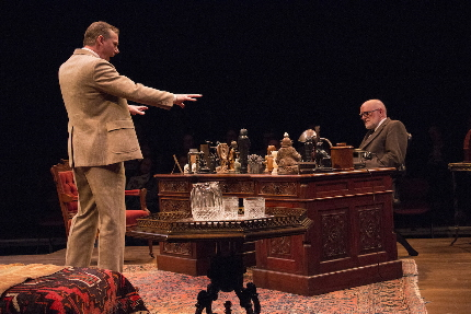 x as C.,S. L:ewis argues the existence of God to xx as Sigmund Freud in Riverside Theatre's production of Freud's Last Session