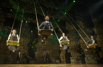 "The kids celebrate in the song ""When I Grow Up"" in the national tour of Matilda /Photo by Joan Marcus Bryce Ryness Gutierrez and Ryness will be joined by fellow principal cast members Jennifer Blood (Miss Honey), Quinn Mattfeld (Mr. Wormwood) and Cassie Silva (Mrs. Wormwood). The ensemble will include Cal Alexander, Kayla Amistad, Cameron Burke, Brittany Conigatti, Michael Fatica, Wesley Faucher, John Michael Fiumara, Camden Gonzales, Shonica Gooden, Evan Gray, Cassidy Hagel, Meliki Hurd, Michael D. Jablonski, Luke Kolbe Mannikus, Stephanie Martignetti, Megan McGuff, Ora Jones, Justin Packard, Serena Quadrato, Aristotle Rock, Jaquez Andre Sims, Ian Michael Stuart, Danny Tieger, Kaci Walfall, Natalie Wisdom and Darius Wright."
