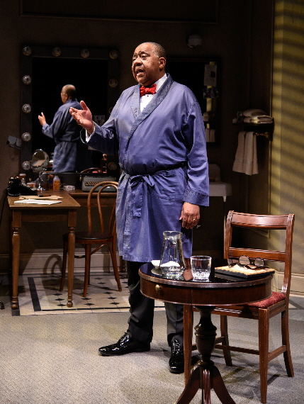 Barry Shabaka Henley in Satchmo at the Waldorf at Palm Beach Dramaworks / Photo by Alicia Donelan