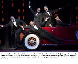Joshua Henry, Brandon Victor Dixon, Billy Porter and Brian Stokes Mitchell, with Richard Riaz Yoder in Shuffle Along, or The Making of the Musical Sensation of 1921 and All That Followed, featuring music and lyrics by Noble Sissle and Eubie Blake, book by F.E. Miller and Aubrey Lyles, with a new book and direction by George C. Wolfe and choreography by Savion Glover, at The Music Box Theatre (239 West 45th Street). © Julieta Cervantes