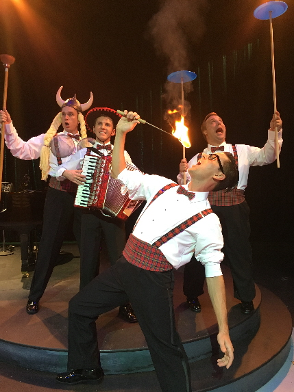 The Plaids, from left, Alex Jorth, Nick Endsley, Charles Logan and Adolpho Blaire, sing their hearts out in Forever Plaid at the Wick Theatre