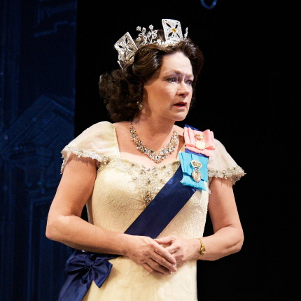 Karen Macdonald as Queen Elizabeth II in the Maltz Jupiter Theatre's The Audience / Photos by Alicia Donelan