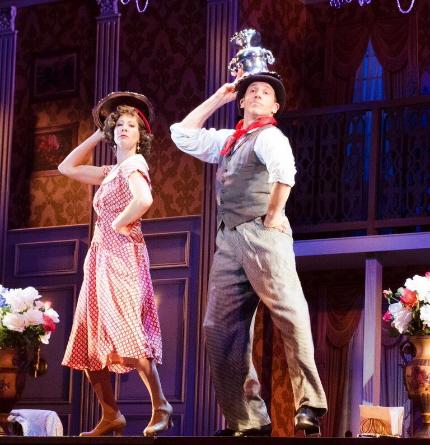 Julie Kleiner and Matt Loehr cavort in the Maltz Jupiter Theatre's Me and My Girl / Photos by Jen Vasbinder