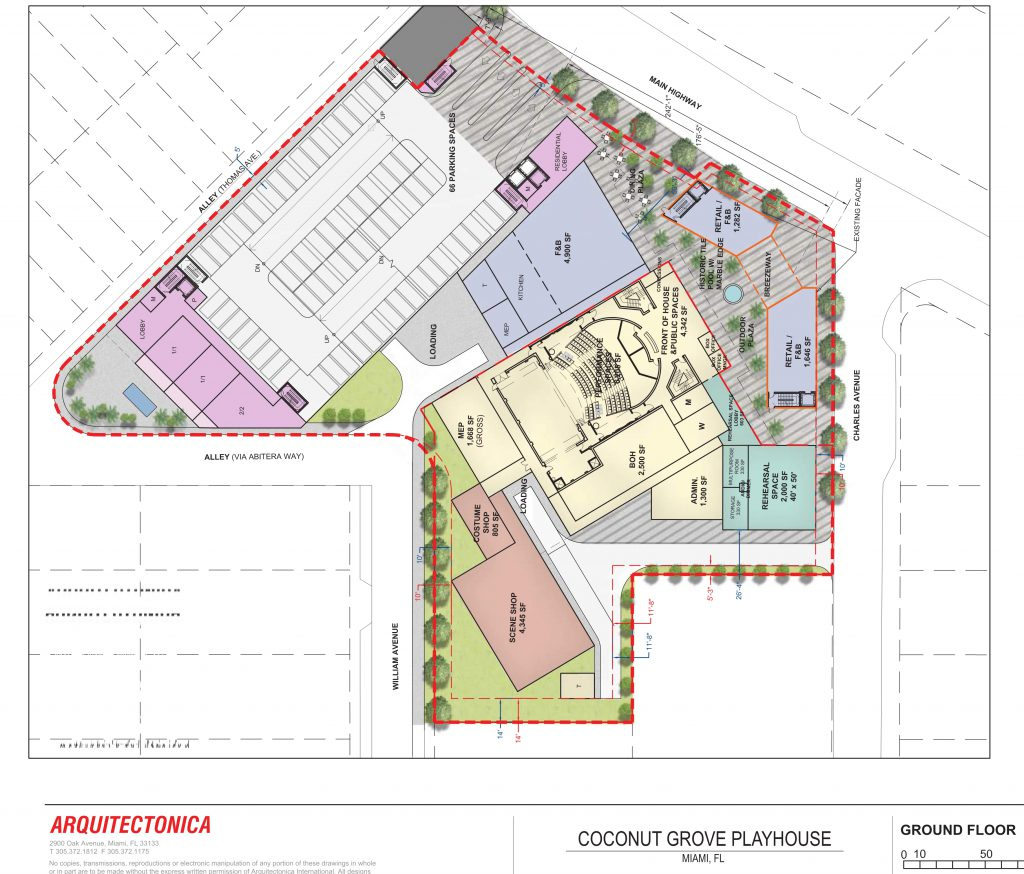 Proposed site plan for Coconut Grove Playhouse complex